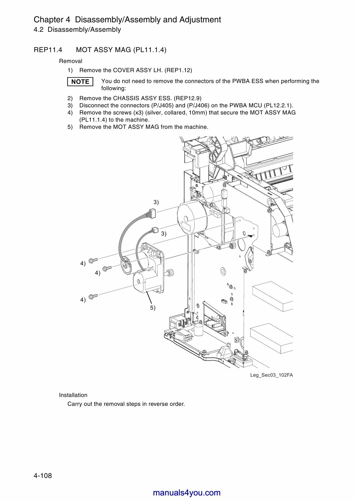 Xerox DocuPrint C525A Fuji ColorLaser   Printer       Parts    List and Service Manual